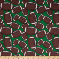 Exclusive Shannon Studio Digital Minky Cuddle End Zone Brown