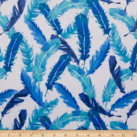 Exclusive Shannon Studio Digital Minky Cuddle Feather Flock Blue
