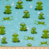 Exclusive Shannon Studio Digital Minky Cuddle Froggy Kiwi