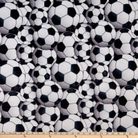 Exclusive Shannon Studio Digital Minky Cuddle Soccer Balls Black/Snow