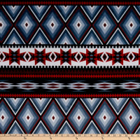 Exclusive Shannon Studio Digital Minky Cuddle Aztec Inspired Scarlet