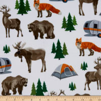 Exclusive Shannon Studio Digital Minky Cuddle Campsite Snow