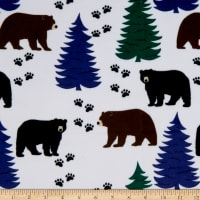 Exclusive Shannon Studio Digital Minky Cuddle Blackbear Forest