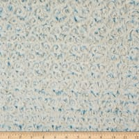 Shannon Minky Luxe Cuddle Frosted Rose Baby Blue/Beige