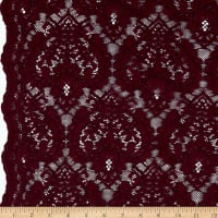 Corded Chantilly Lace Burgundy