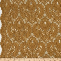 Corded Chantilly Lace Dark Gold
