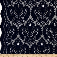 Corded Chantilly Lace Dark Navy