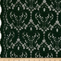 Corded Chantilly Lace Hunter Green