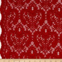 Corded Chantilly Lace Red