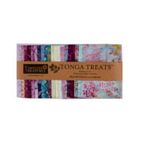"Timeless Treasures Tonga Batik Treat 5"" Squares Dahlia 40pcs"