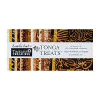 "Timeless Treasures Tonga Batik Treat 5"" Square Pack Sumatra 40 pcs Multi"
