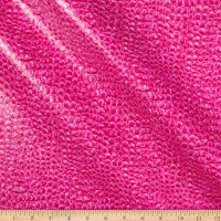 Non-Backed Crocodile Faux Leather Pink