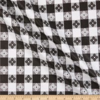 Tavern Check Flannel Backed Vinyl Black/White Classic Tablecloth