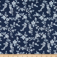 Michael Miller Beginnings Flower Vine Navy
