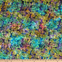 Michael Miller Tropical Batiks Butterfly Batik Grape