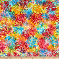 Michael Miller Tropical Batiks Palm Bloom Batik Calypso