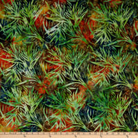 Michael Miller Tropical Batiks Palm Bloom Batik Limeade