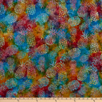 Michael Miller Tropical Batiks Pineapple Batik Calypso
