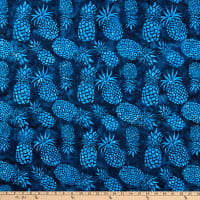 Michael Miller Tropical Batiks Pineapple Batik Indigo