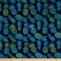 Michael Miller Tropical Batiks Pineapple Batik Navy