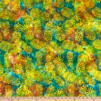 Michael Miller Tropical Batiks Pineapple Batik Pineapple