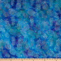 Michael Miller Tropical Batiks Pineapple Batik Turquoise