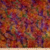 Michael Miller Tropical Batiks Pineapple Batik Violet