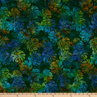 Michael Miller Tropical Batiks Tropical Leaves Batik Cypress