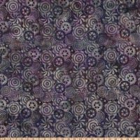 Island Batik Steam Engine Gears Amethyst