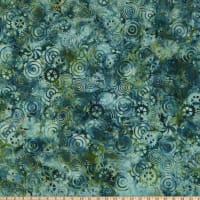Island Batik Clockworks Gears Jungle Water