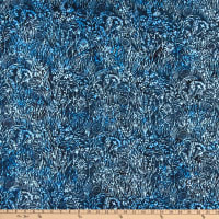 Island Batik Blueberry Patch Wildflower Storm