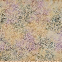 Island Batik Quiet Shades Wildflowers Peony