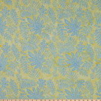 Island Batik Sunny Side Up Large Leaves Buttercup
