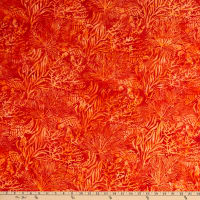 Island Batik Tropical Escape Poppy Turtle