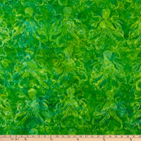 Island Batik Magical Reef Lemonlime Octopus