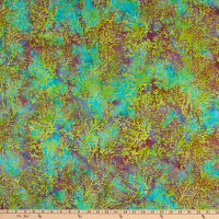 Island Batik Magical Reef Coral Baja Bright