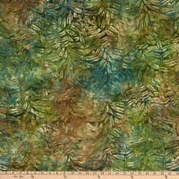 Island Batik Sand Bar Fern Leaves Jungle Water