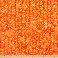 Island Batik Little Sir, Little Miss Tangerine Numbers