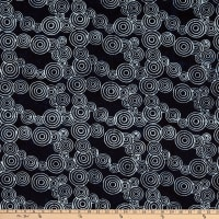 Island Batik Tweet Black Circles