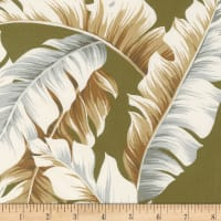 Kaufman Ecovero Aloha Prints Palm Leaves Moss