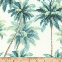 Kaufman Ecovero Aloha Prints Palm Trees Nautical
