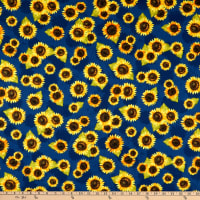 Wilmington Country Road Market Sunflower Toss Blue