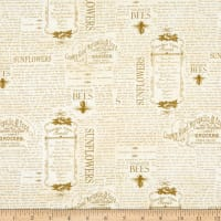 Wilmington Country Road Market Vintage Words Tan