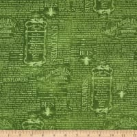 Wilmington Country Road Market Vintage Words Green
