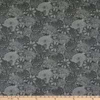 "Wilmington Essentials 108"" Quilt Backing Floral Toile Dark Gray"
