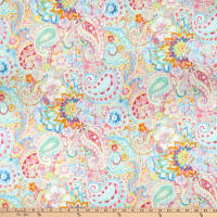 Wilmington Wild Blush Floral Paisley Pink/Gold
