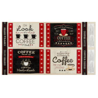 """Wilmington Coffee Time Placemat 24"""" Panel Multi"""