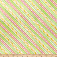 Wilmington Adventure Time Ticking Stripe Pink/Green