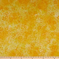 Kaufman Artisan Batik Waiting For The Sun Flowers and Leaves Sunburst