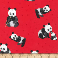 Kaufman Cuddly Crew Flannel Red Panda